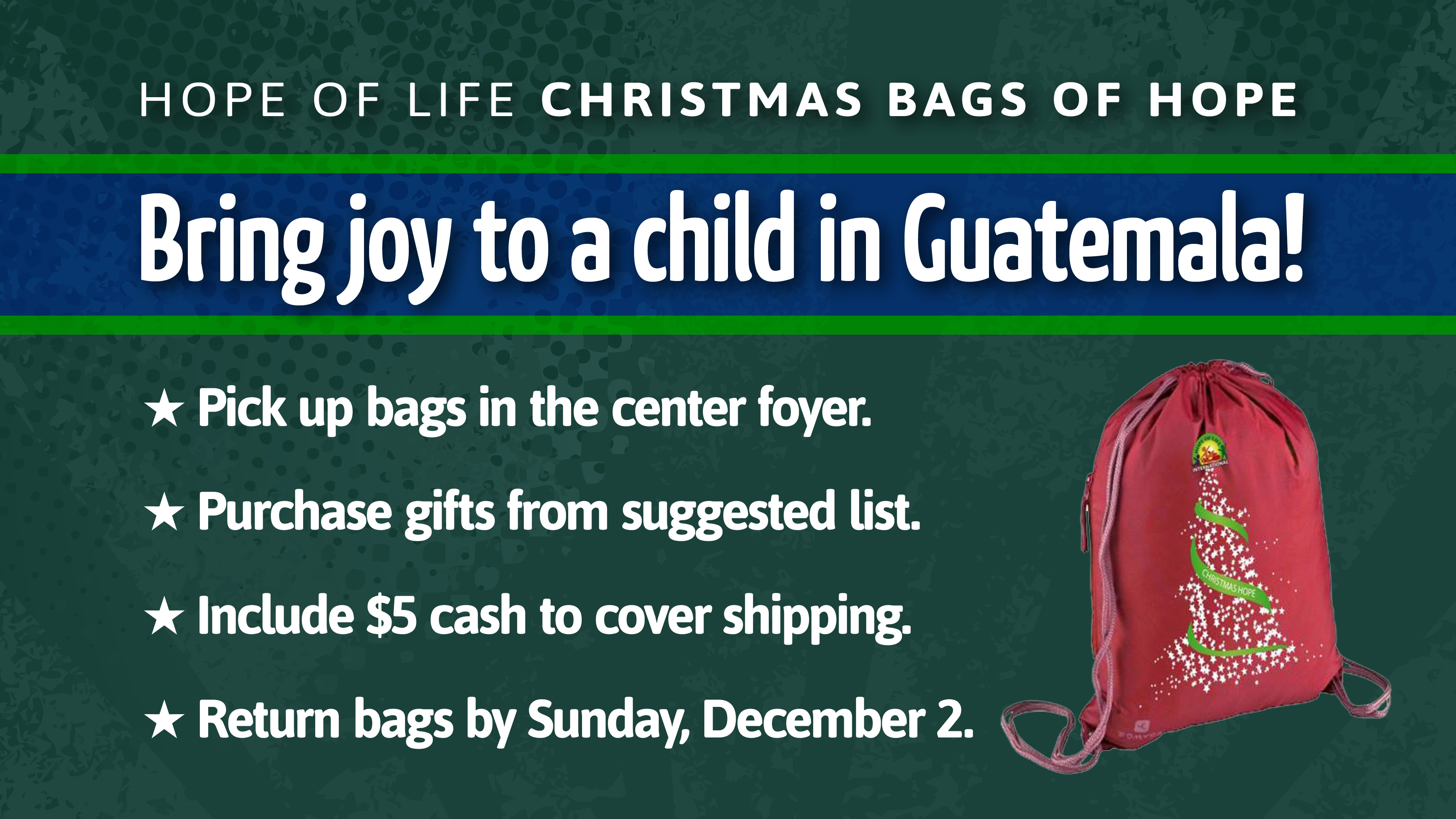 Bags of Hope class=