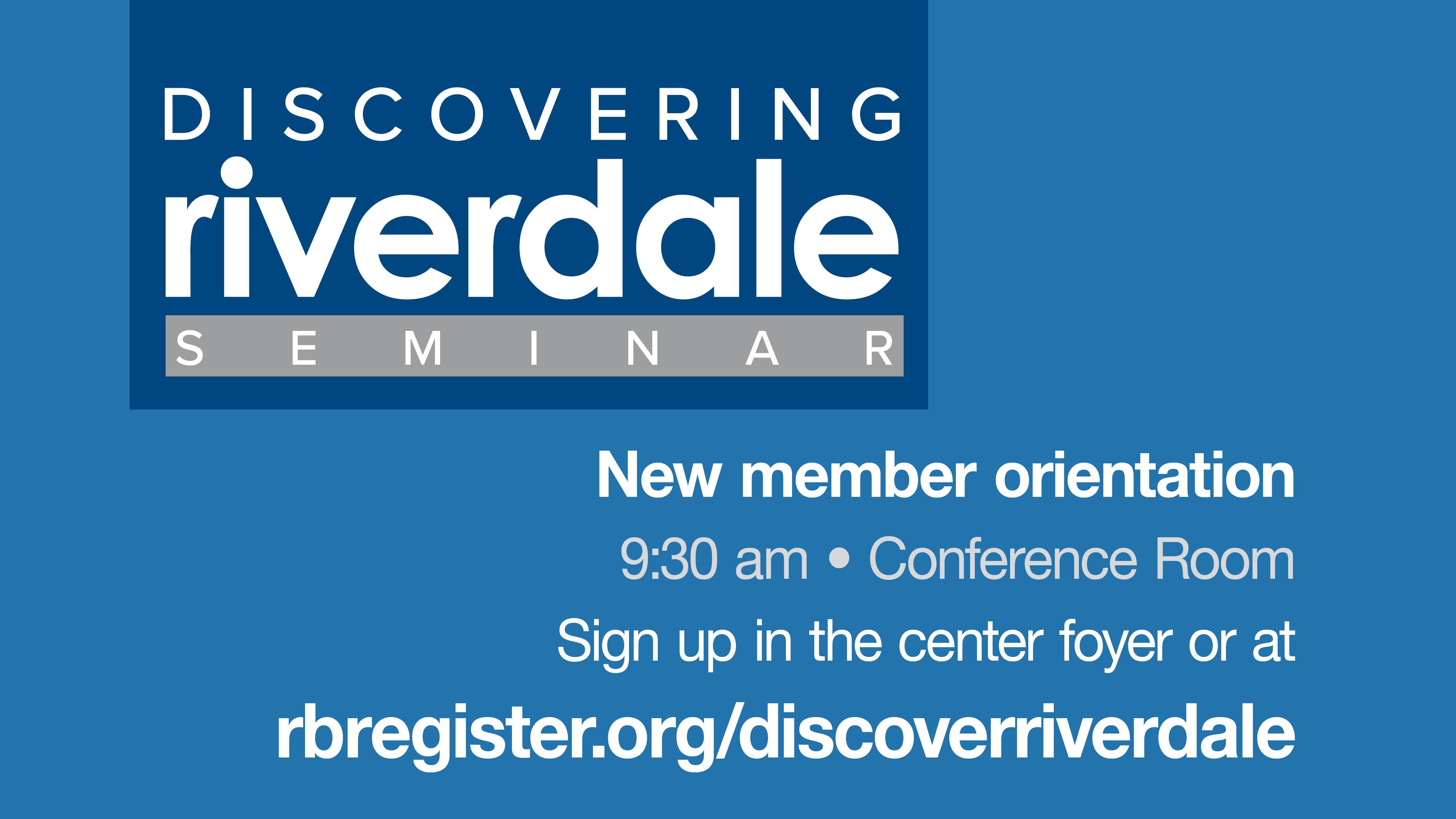 Discovering Riverdale Seminar