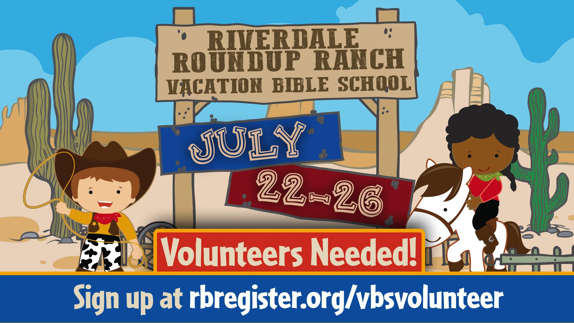 VBS Volunteers class=
