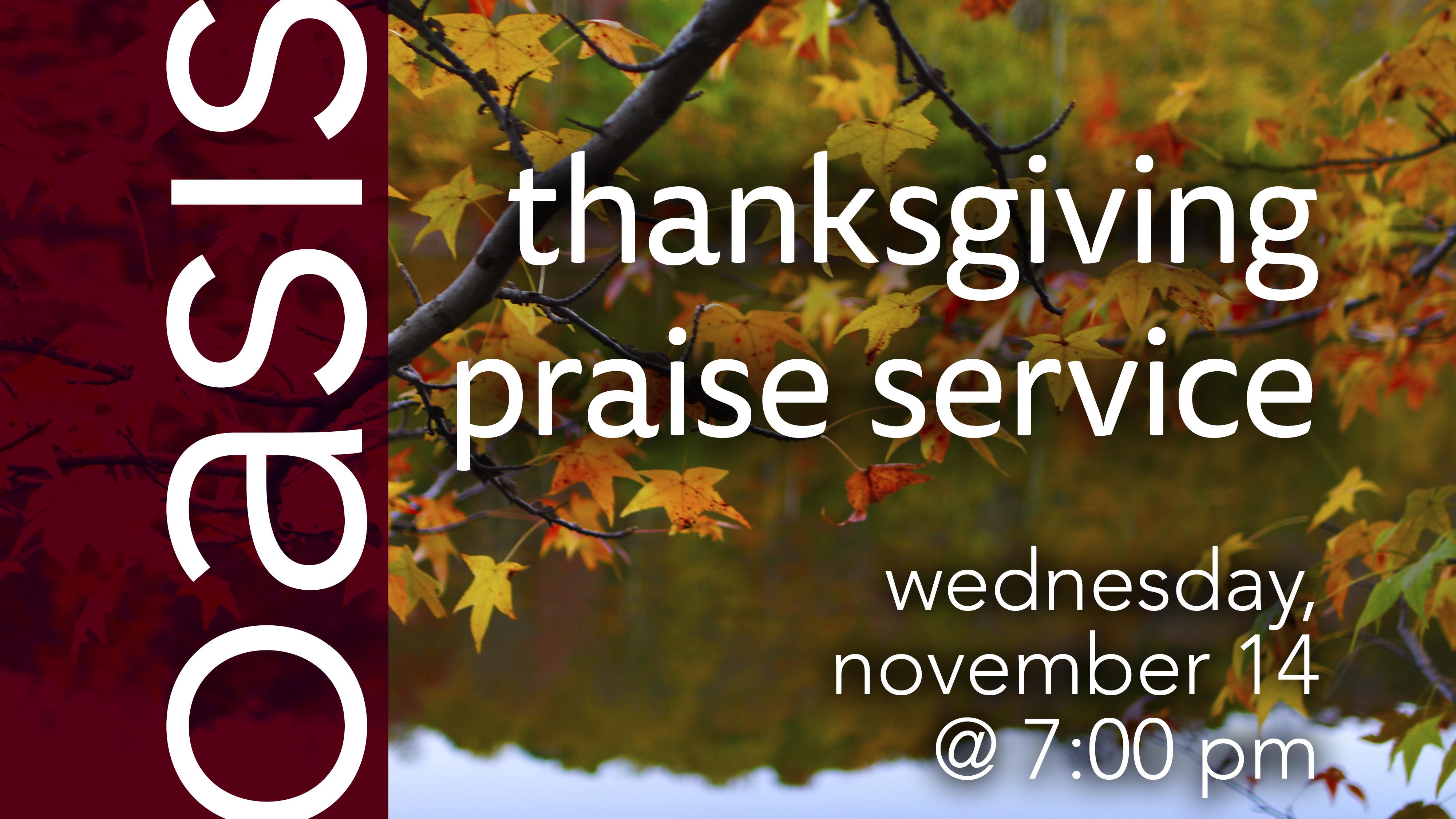 Thanksgiving Praise Service